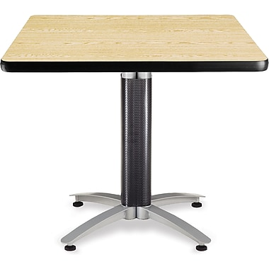 OFM 29 1/2in. x 36in. x 36in. Square Laminate Mesh Base Multi-Purpose Table, Oak