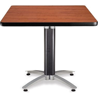 OFM 29 1/2in. x 36in. x 36in. Square Laminate Mesh Base Multi-Purpose Table, Cherry