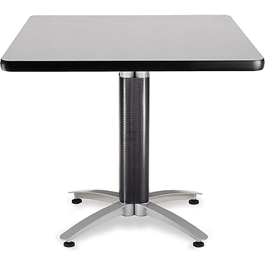 OFM 29 1/2in. x 36in. x 36in. Square Laminate Mesh Base Multi-Purpose Table, Gray Nebula