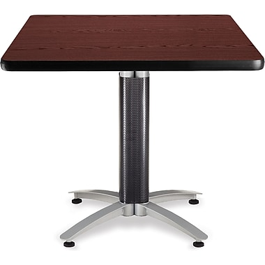 OFM 29 1/2in. x 36in. x 36in. Square Laminate Mesh Base Multi-Purpose Table, Mahogany