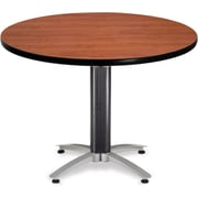 "OFM 29 1/2"" x 42"" x 42"" Round Laminate Mesh Base Multi-Purpose Table, Cherry"
