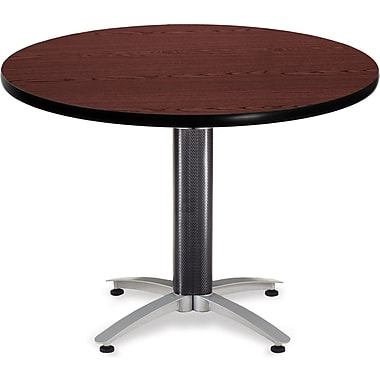 OFM 29 1/2in. x 42in. x 42in. Round Laminate Mesh Base Multi-Purpose Table, Mahogany