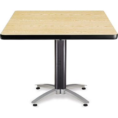 OFM 29 1/2in. x 42in. x 42in. Square Laminate Mesh Base Multi-Purpose Table, Oak