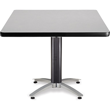 OFM 29 1/2in. x 42in. x 42in. Square Laminate Mesh Base Multi-Purpose Table, Gray Nebula