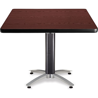 OFM 29 1/2in. x 42in. x 42in. Square Laminate Mesh Base Multi-Purpose Table, Mahogany