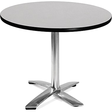 OFM 29 1/2in. x 35 3/4in. x 35 3/4in. Round Laminate Flip-Top Multi-Purpose Table, Gray Nebula