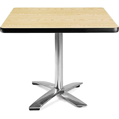 OFM 29 1/2in. x 35 3/4in. x 35 3/4in. Square Laminate Flip-Top Multi-Purpose Table, Oak