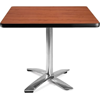 OFM 29 1/2in. x 35 3/4in. x 35 3/4in. Square Laminate Flip-Top Multi-Purpose Table, Cherry