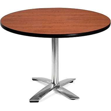 OFM 29 1/2in. x 42in. x 42in. Round Laminate Flip-Top Multi-Purpose Table, Cherry