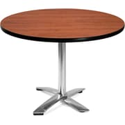 OFM 29 1/2 x 42 x 42 Round Laminate Flip-Top Multi-Purpose Table, Cherry