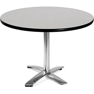 OFM 29 1/2in. x 42in. x 42in. Round Laminate Flip-Top Multi-Purpose Table, Gray Nebula