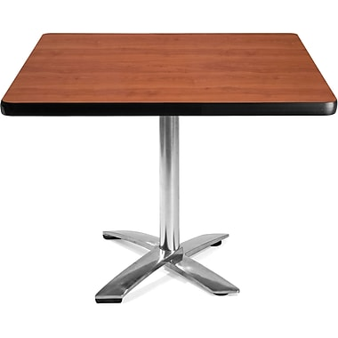 OFM 29 1/2in. x 42in. x 42in. Square Laminate Flip-Top Multi-Purpose Table, Cherry