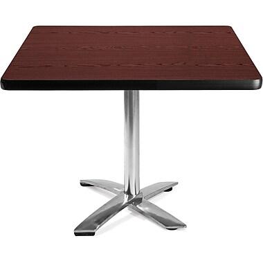 OFM 29 1/2in. x 42in. x 42in. Square Laminate Flip-Top Multi-Purpose Table, Mahogany