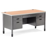OFM 66360-MPL Teacher's Desk, Maple/Gray