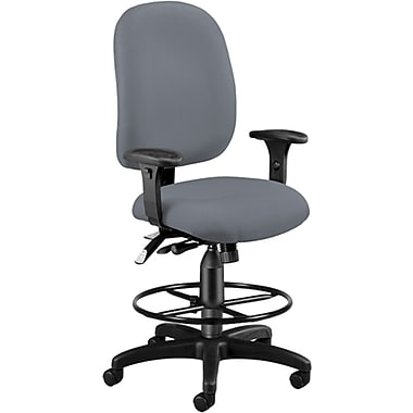 OFM 125-DK-801 AirFlo Polyester Task Chair and Drafting Kit with Adjustable Arms, Gray