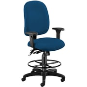 OFM 125-DK-804 AirFlo Polyester Task Chair and Drafting Kit with Adjustable Arms, Navy