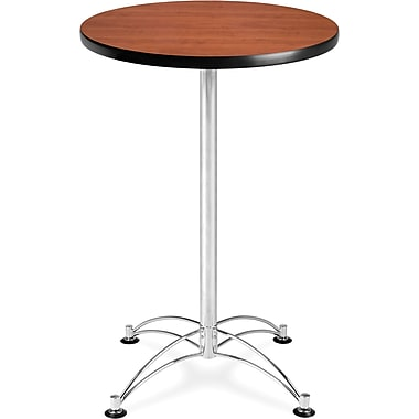 OFM 41in. x 23 3/4in. x 23 3/4in. Round Laminate Cafe Height Table, Cherry
