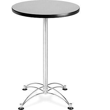 OFM 41in. x 23 3/4in. x 23 3/4in. Round Laminate Cafe Height Table, Gray Nebula