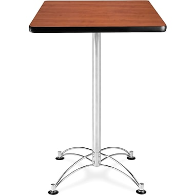 OFM 41 1/2in. x 23 3/4in. x 23 3/4in. Square Laminate Cafe Height Table, Cherry