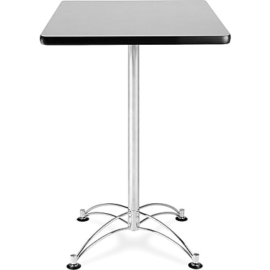 OFM 41 1/2in. x 23 3/4in. x 23 3/4in. Square Laminate Cafe Height Table, Gray Nebula