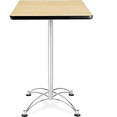 OFM 41 1/2in. x 23 3/4in. x 23 3/4in. Square Laminate Cafe Height Table, Oak