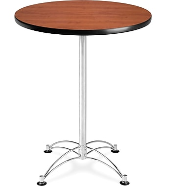 OFM 41in. x 30in. x 30in. Round Laminate Cafe Height Table, Cherry