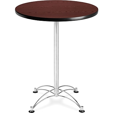 OFM 41in. x 30in. x 30in. Round Laminate Cafe Height Table, Mahogany