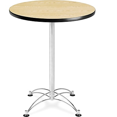 OFM 41in. x 30in. x 30in. Round Laminate Cafe Height Table, Oak