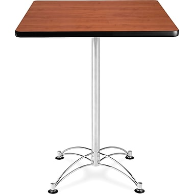 OFM 41in. x 30in. x 30in. Square Laminate Cafe Height Table, Cherry
