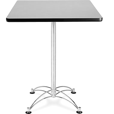 OFM 41in. x 30in. x 30in. Square Laminate Cafe Height Table, Gray Nebula