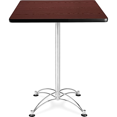 OFM 41in. x 30in. x 30in. Square Laminate Cafe Height Table, Mahogany