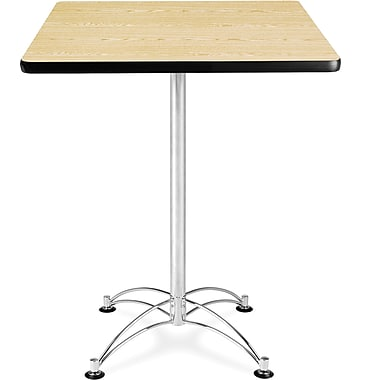 OFM 41in. x 30in. x 30in. Square Laminate Cafe Height Table, Oak