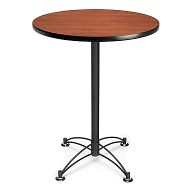 OFM 41 1/2in. x 30in. x 30in. Round Laminate Black Base Cafe Height Tables