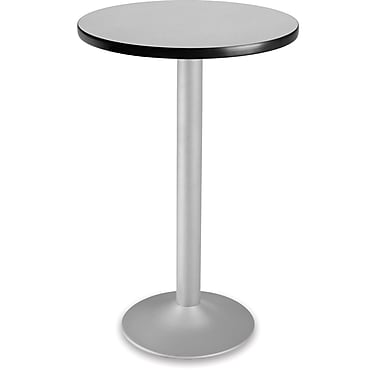 OFM 41 1/4in. x 23 3/4in. x 23 3/4in. Round Laminate Flip-Top Folding Cafe Height Table, Gray Nebula