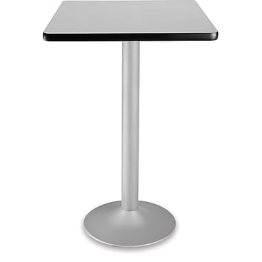OFM 41 1/4in. x 23 3/4in. x 23 3/4in. Square Laminate Flip-Top Folding Cafe Table, Gray Nebula