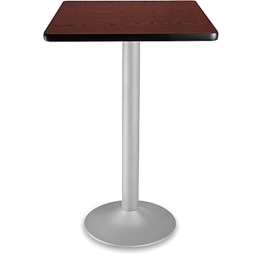 OFM 41 1/4in. x 23 3/4in. x 23 3/4in. Square Laminate Flip-Top Folding Cafe Table, Mahogany