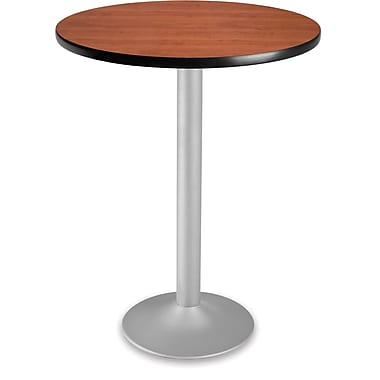 OFM 41 1/4in. x 30in. x 30in. Round Laminate Flip-Top Folding Cafe Table, Cherry