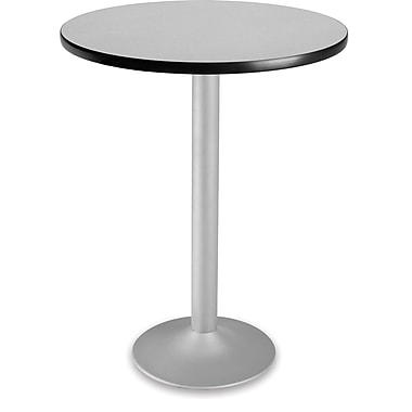 OFM 41 1/4in. x 30in. x 30in. Round Laminate Flip-Top Folding Cafe Table, Gray Nebula