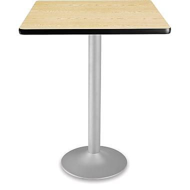 OFM 41 1/4in. x 30in. x 30in. Square Laminate Flip-Top Folding Cafe Table, Oak