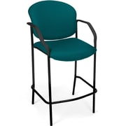 OFM Manor Fabric Cafe Height Chair With Arms, Teal
