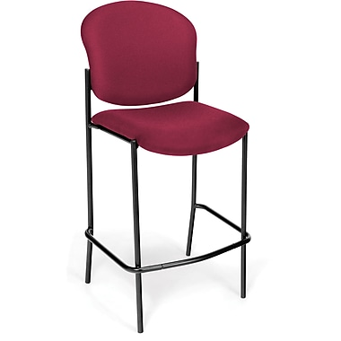 OFM Manor Fabric Cafe Height Chair, Wine