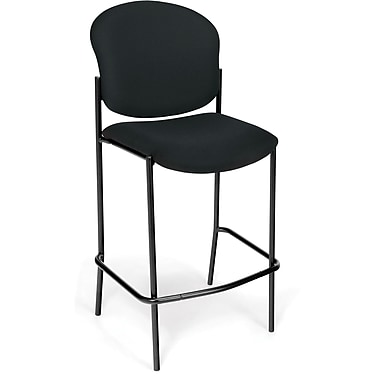 OFM Manor Fabric Cafe Height Chair, Black