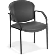 OFM Manor Steel Guest/Reception Chair, Charcoal (404-VAM-604)