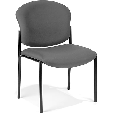 OFM Manor Fabric Armless Stack Chair, Gray