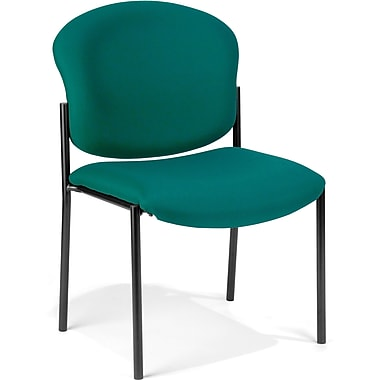 OFM Manor Fabric Armless Stack Chair, Teal