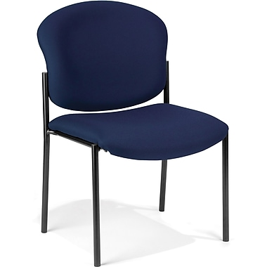 OFM Manor Fabric Armless Stack Chair, Navy