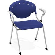 OFM Rico Polypropylene Stack Chair With Arms, Navy