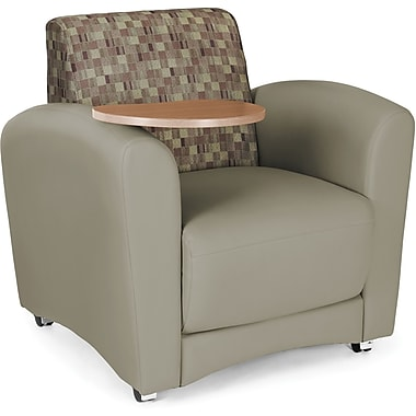 OFM Interplay Polyurethane Single Seat Tablet Chair, Plum/Taupe