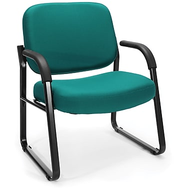 OFM Big and Tall Fabric Guest/Reception Chair, Teal