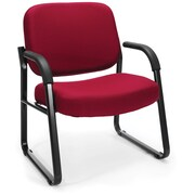 OFM Steel Guest/Reception Chair with Arms, Wine (407-803)